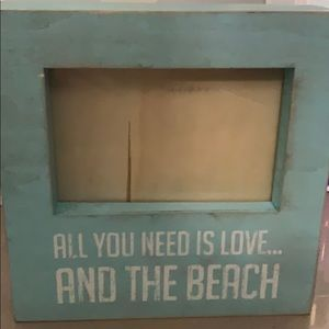 Wall art - all you need is love and a beach